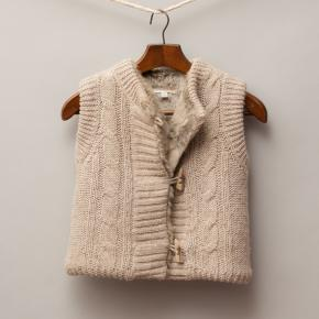 Witchery Knit & Fur Vest