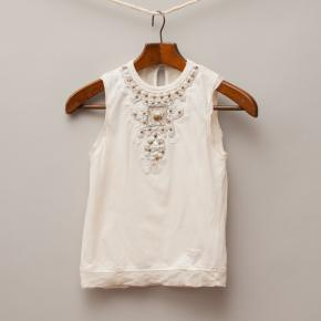 Pinco Pallino Cream Singlet Top