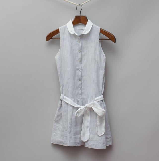 Laran Jinha Grey Pin Stripe Dress