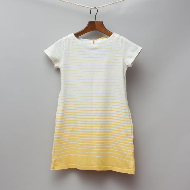 Jacadi Yellow Striped Dress