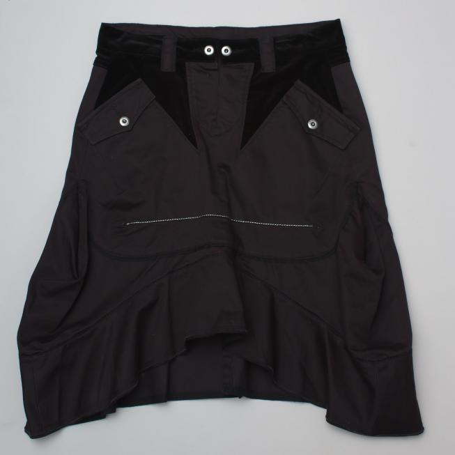 Marithe Francois Girbaud Black Skirt