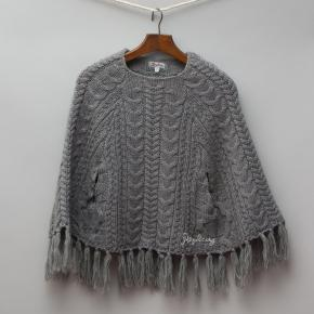 Replay Grey Knitted Poncho