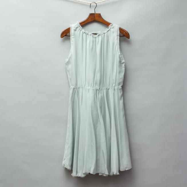 Pale Cloud Silk Dress