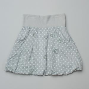 IKKS Grey Silk Skirt