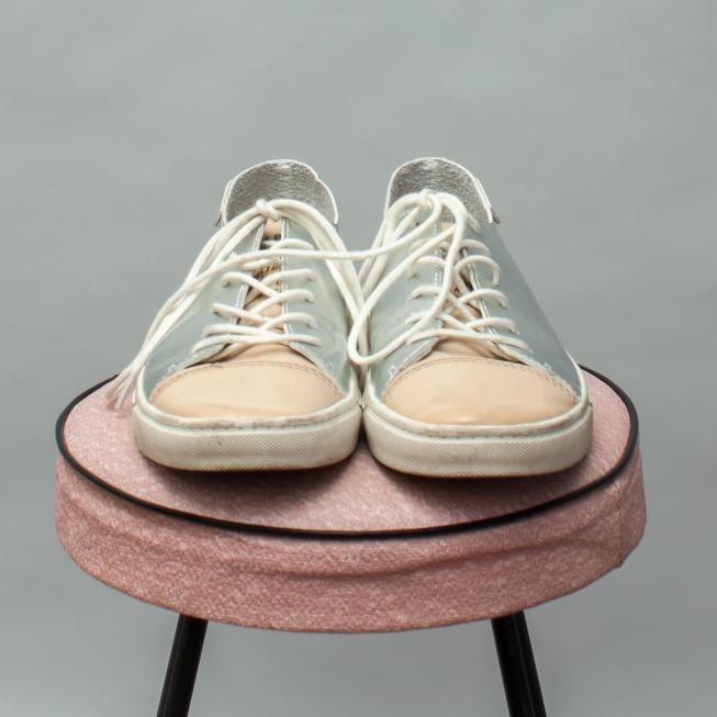Zara Silver Lace Ups