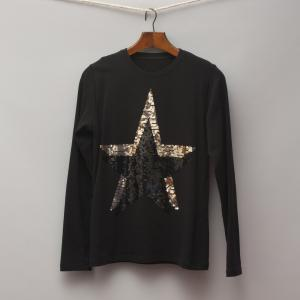 Yoox Sequin Star Top