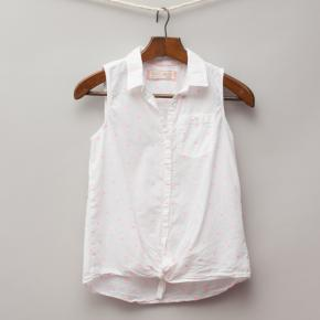 Zara White Sleeveless Shirt