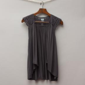 Wave Zone Charcoal Lace Vest