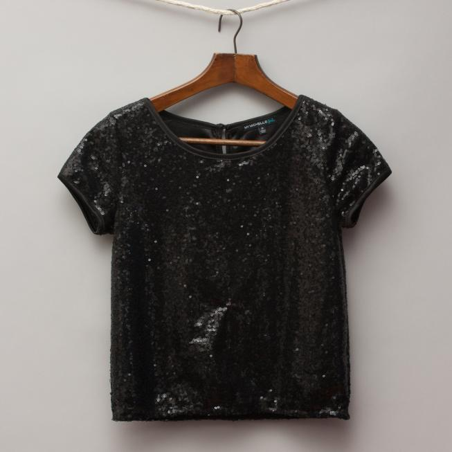 My Michelle Sequined T-Shirt