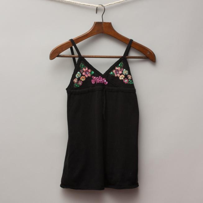 Nolita Black Embellished Singlet