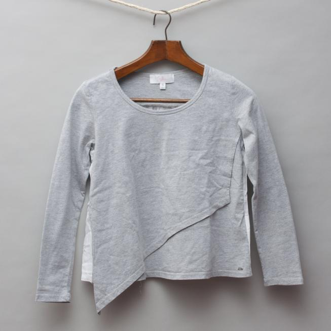 Indie Grey & Silk Long Sleeve Top