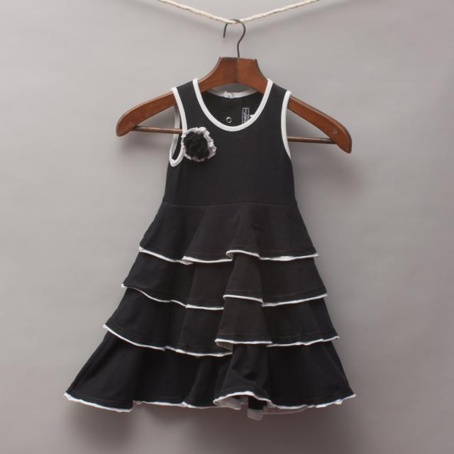 Rock Your Baby Black Ruffle Dress