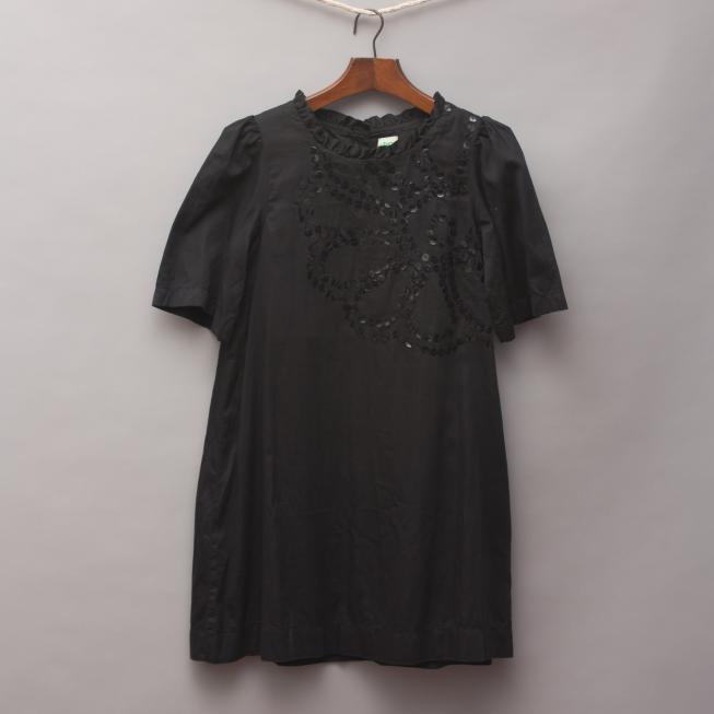 BIG Black Sequin Dress