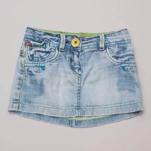 Miss Sixty Distressed Denim Skirt