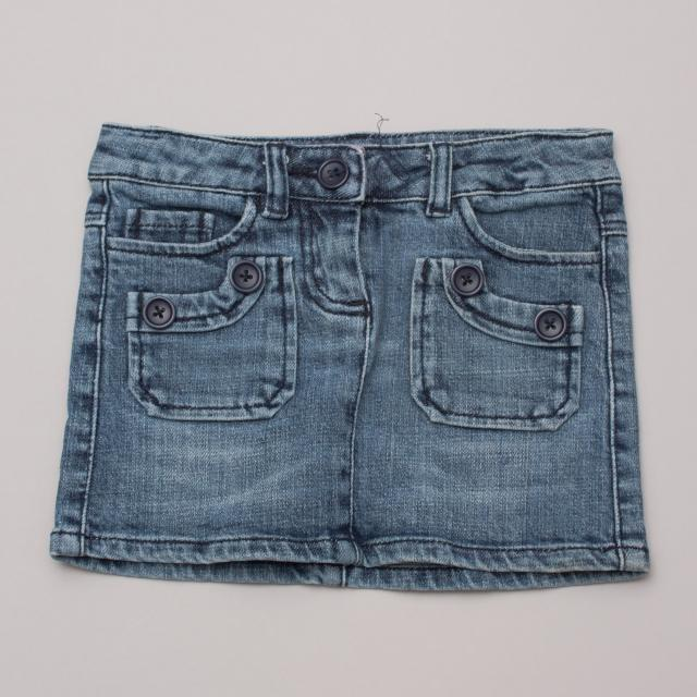 Seed Denim Skirt
