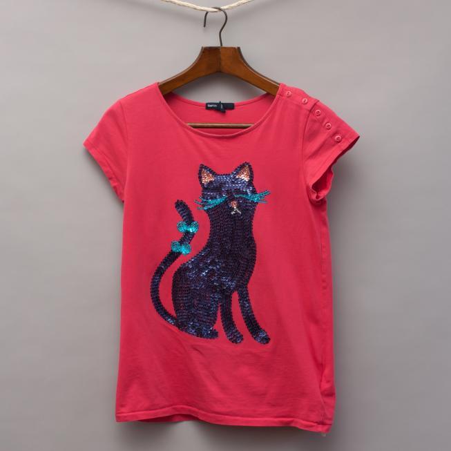 Gap Sequin Cat T-Shirt