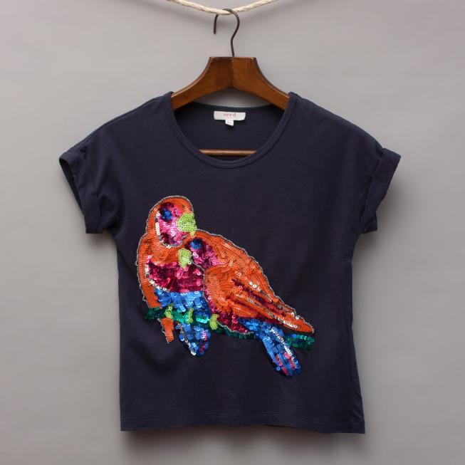 Seed Sequin Bird T-Shirt