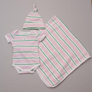Country Road Green Striped Baby Set 3-6Mths