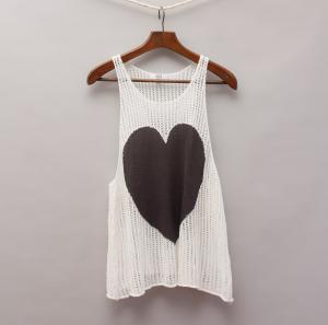 Seed Crochet Heart Singlet