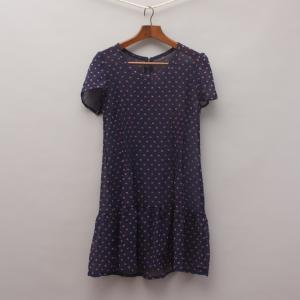 Sheer Navy Heart Dress