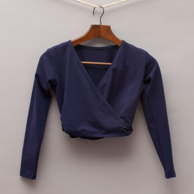 La Pointe Navy Blue Wrap Top