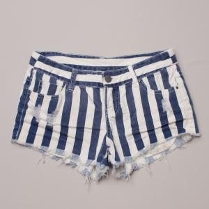 Billabong Striped Denim Shorts
