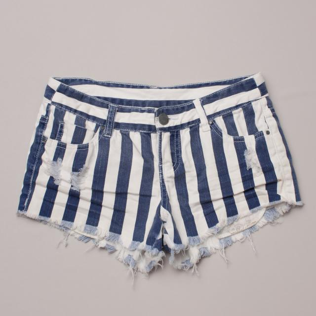 Billabong Striped Denim Shorts