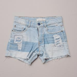 Zara Distressed Denim Shorts