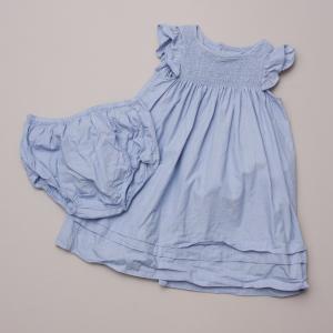 Jacadi Blue Dress & Bloomers