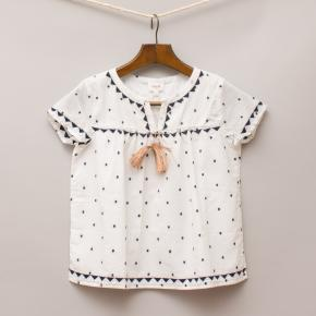 Seed Embroidered Top