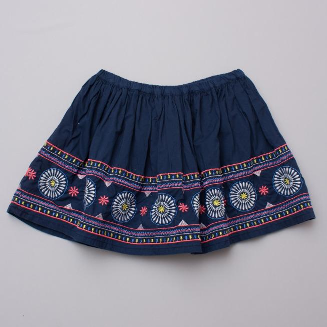 Seed Embroidered Skirt