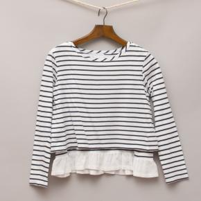 Witchery Striped Long Sleeve Top