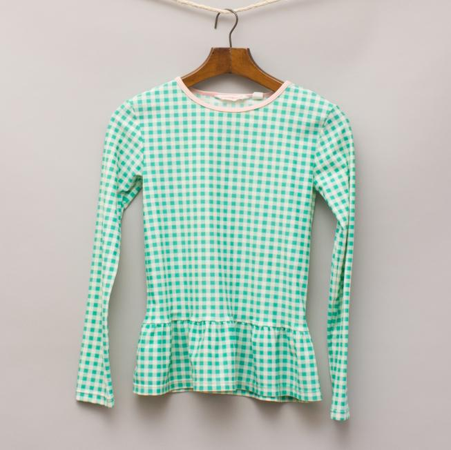 Country Road Checked Rash Vest