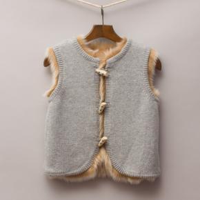 Reversible Fur/Knit Vest