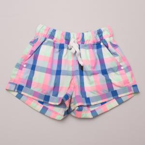 Lululemon Coloured Check Shorts