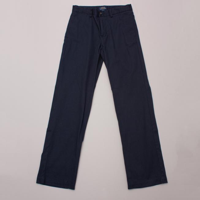 Polo Ralph Lauren Navy Blue Cotton Pants
