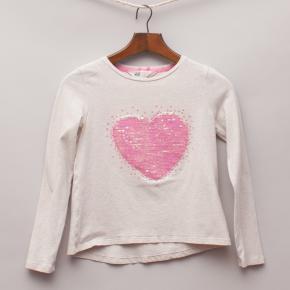 H&M Sequin Heart Long Sleeve