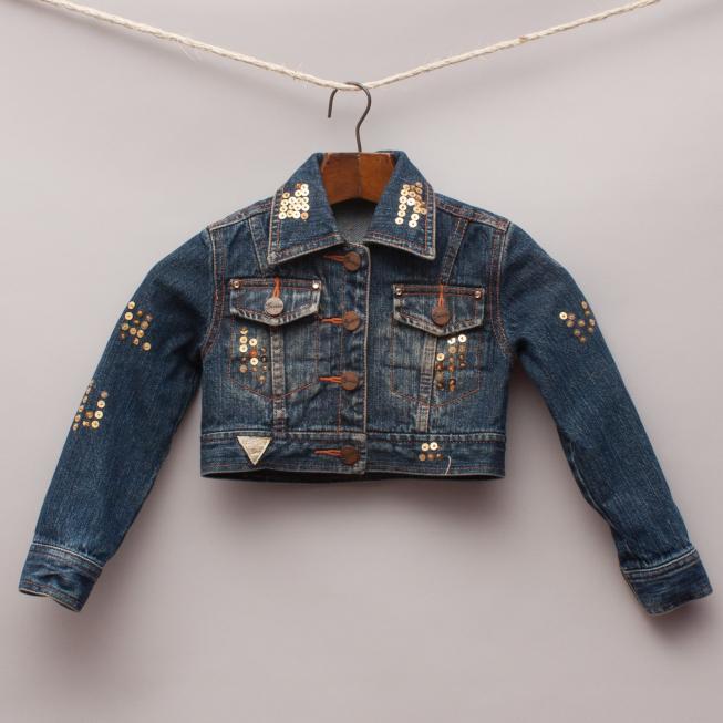 Guess Embellished Denim Jacket