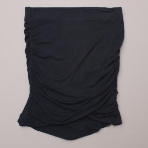 Witchery Navy Blue Stretch Skirt