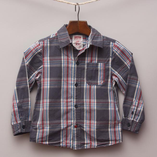 Okaidi Check Shirt