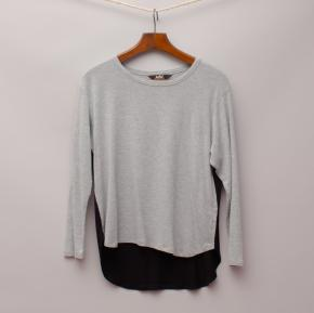 Indie Two Tone Long Sleeve Top