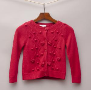Jacadi Red Detailed Cardigan
