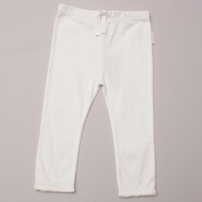 Purebaby White Leggings