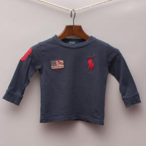 Ralph Lauren Embroidered Long Sleeve Top