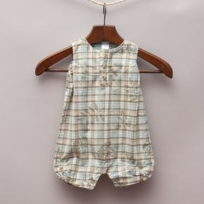 Little Me Check Romper