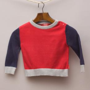 Rhubarb Colour Block Jumper