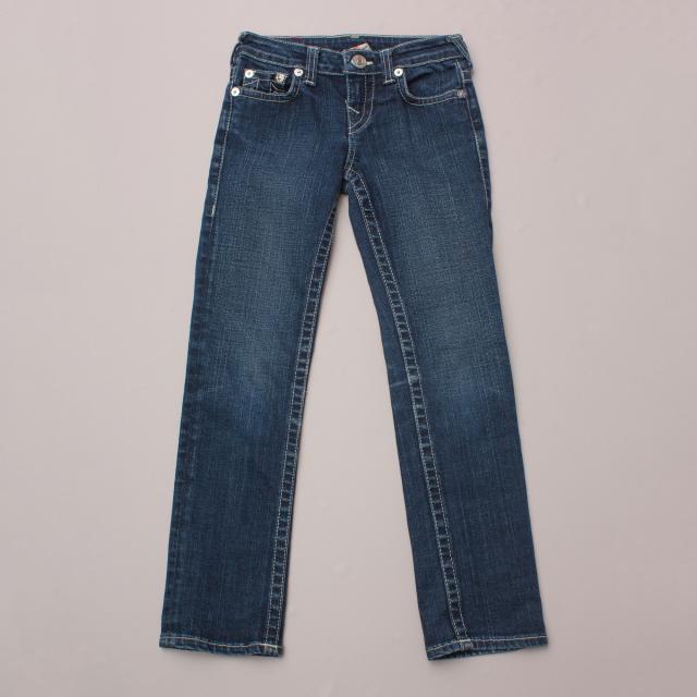 True Religion Navy Blue Jeans