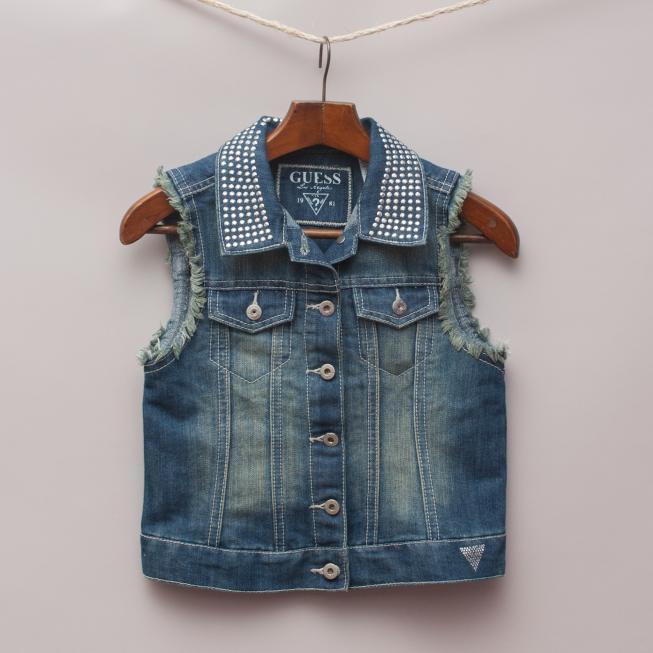 Guess Embellished Denim Vest