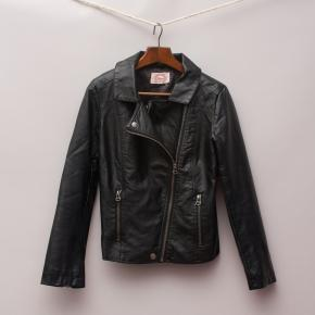 Gum Faux Leather Biker Jacket