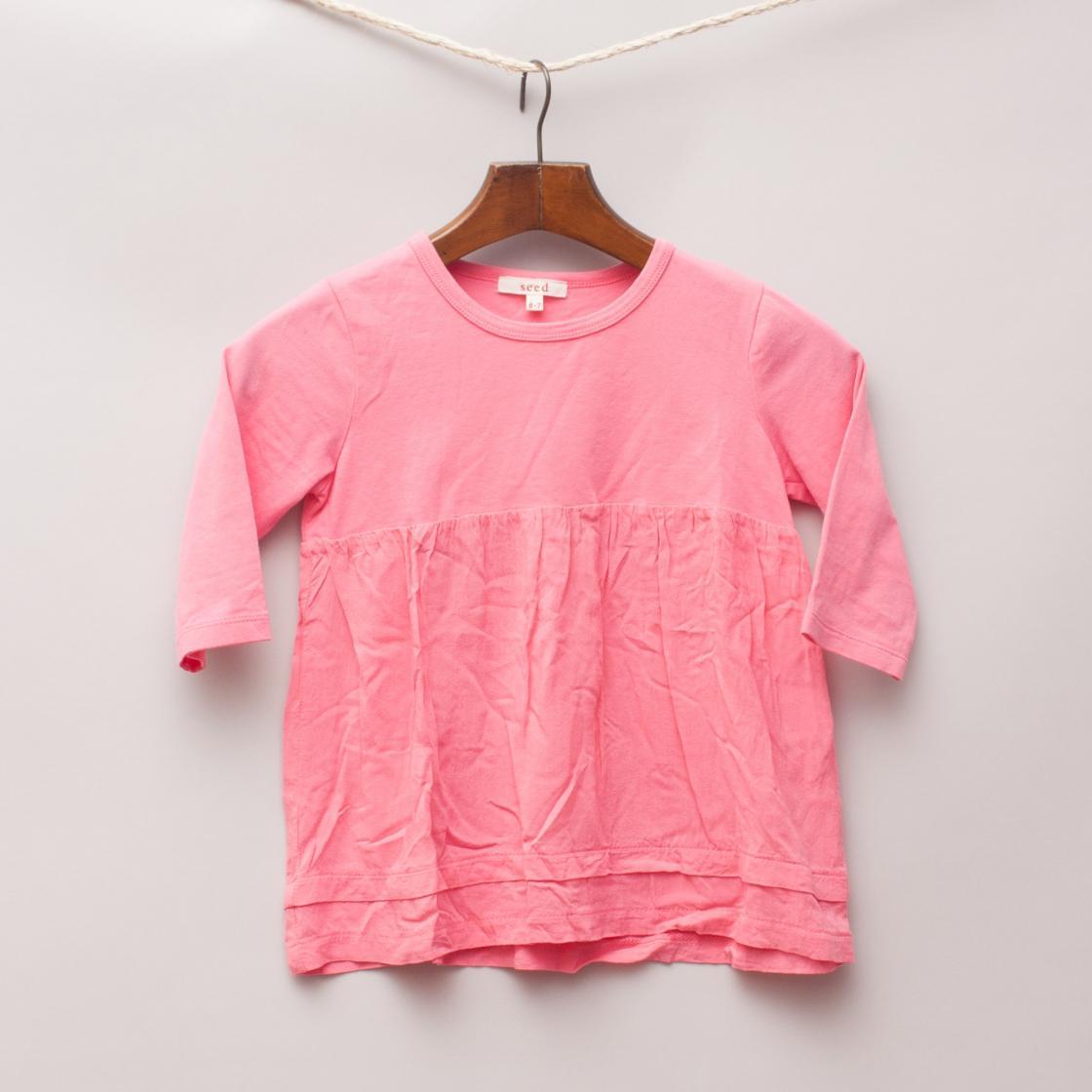 Seed Pink Long Sleeve Top